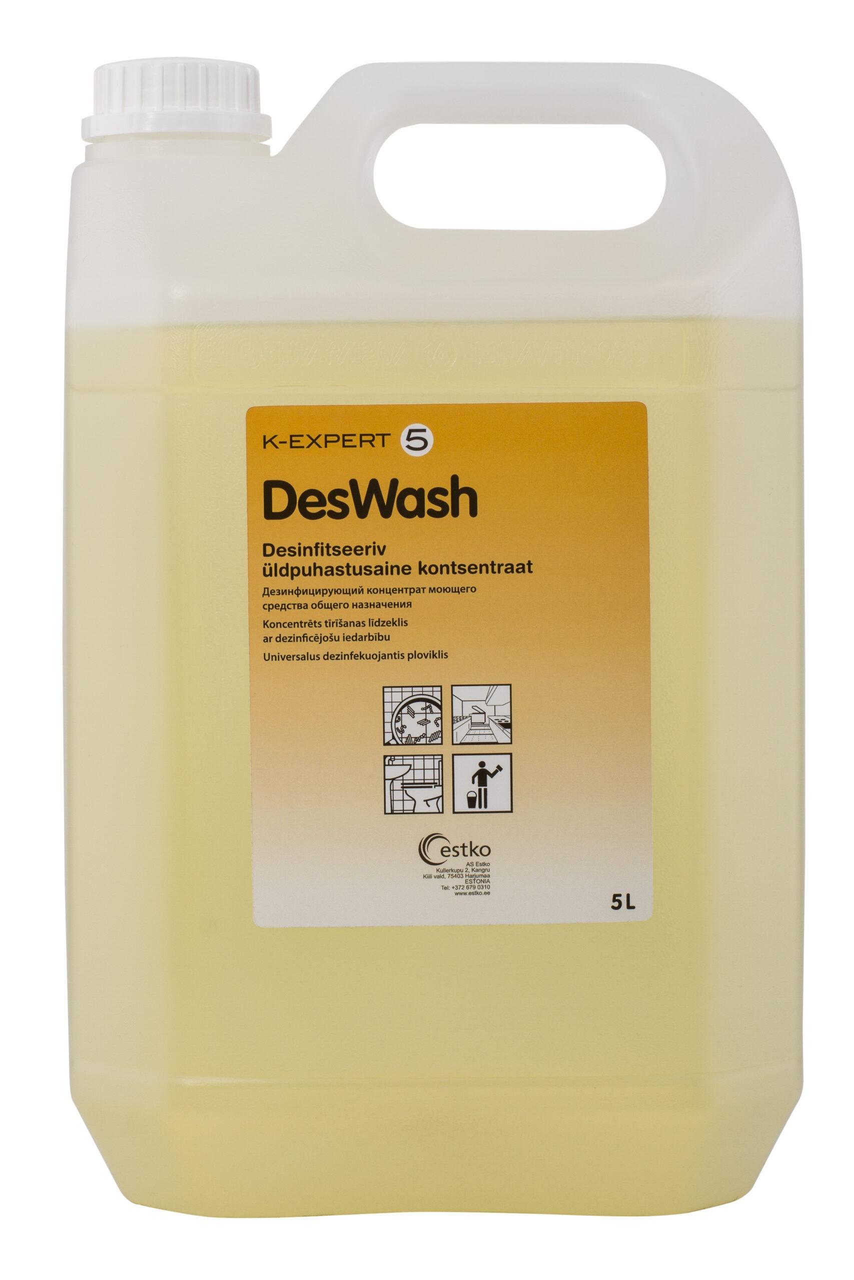 K-Expert 5 DesWash desinfitseeriv üldpuhastusaine kontsentraa